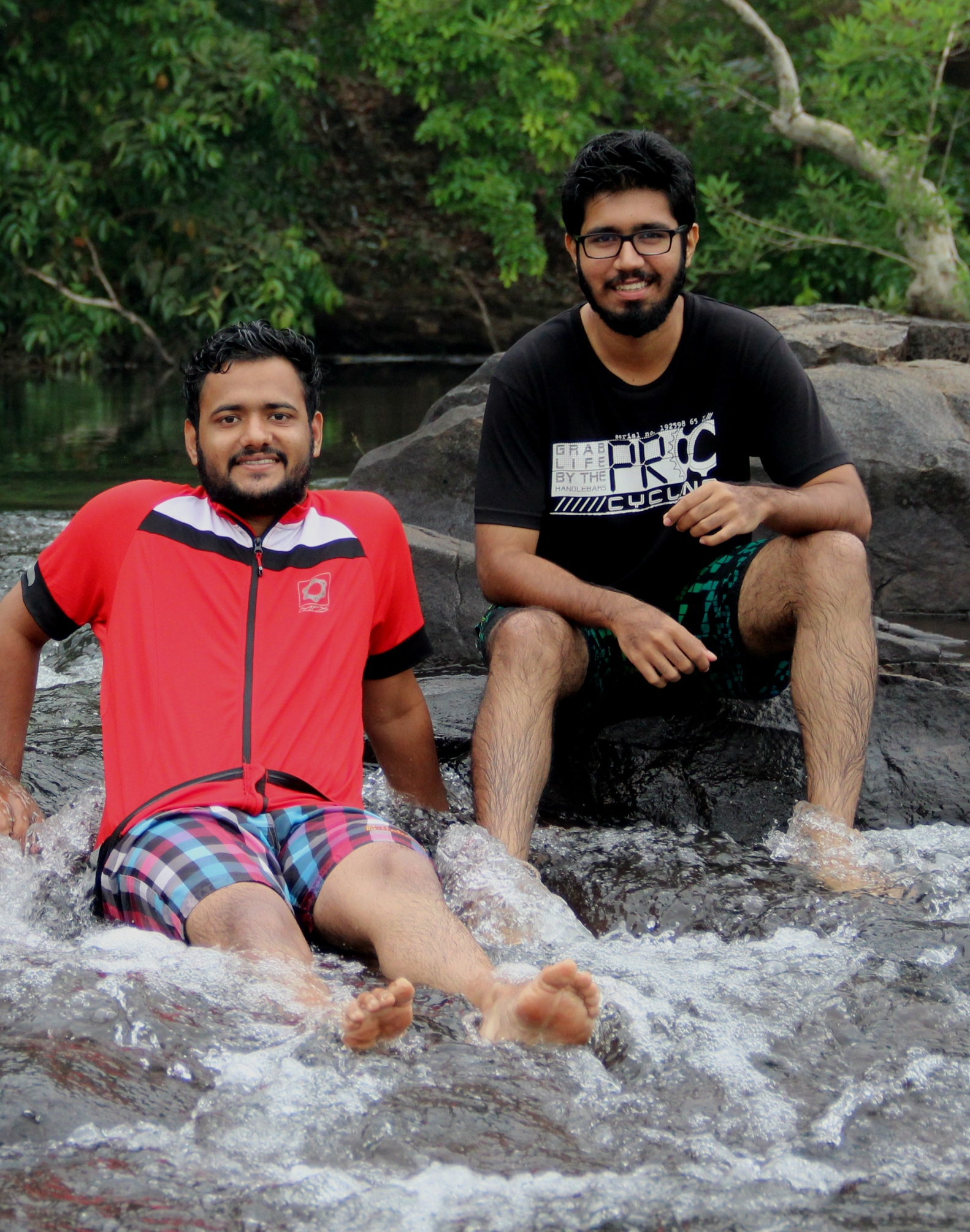 Me and my friend Viraj Nayak enjoying the Natural River Jacuzzi - One can sit here for hours.